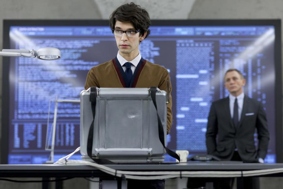 Ben Whishaw stars as Q in the new Bond movie.